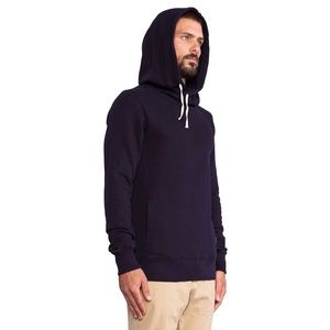 Scotch & Soda Home Alone Twisted Hoodie in Navy